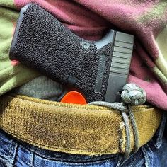 Glock 19 with the new trigger guard minimalist holster from CCWeapon