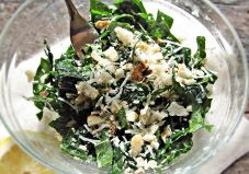 Kale is the perfect hearty fall green to use as a base for any seasonal salad. Try this easy option with freshly grated pecorino cheese and red pepper flakes for lunch today!