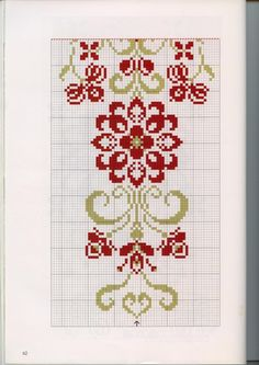 Table runner - part 3 (bottom) Gallery. Cross Stitch Borders, Cross Stitch Flowers, Cross Stitch Charts, Cross Stitch Designs, Cross Stitching, Cross Stitch Patterns, Beaded Embroidery, Cross Stitch Embroidery, Embroidery Patterns