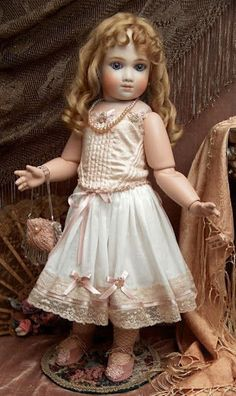 """French Doll by A. Thuillier marked A9T, 22"""" Tall"""