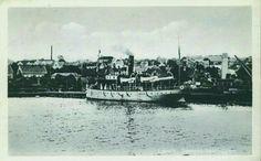 Vestfold fylke Larvik Dampskibsbryggen tidlig 1900-tall