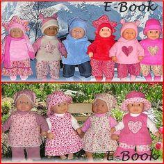 Schnittmuster Puppenkleidung Gr. 36cm Babypuppe...44 patronen (zomer - winter - slaapzak) - dawanda 7.90euro