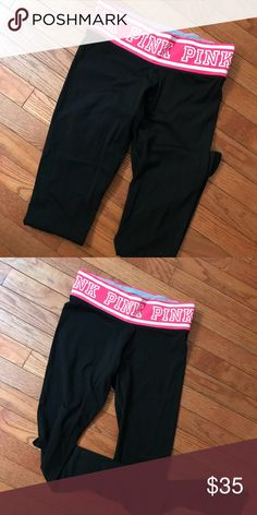 Pink leggings yoga Perfect condition ! Ankle length PINK Pants Leggings