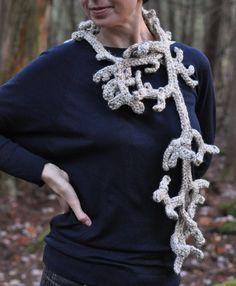 Caribou - freeform designer crochet lariat