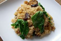 Portabella Mushroom, Onion and Spinach Quinoa | | Kosher Recipes - Joy of Kosher with Jamie Geller