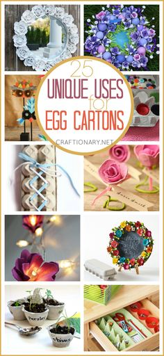 Best egg carton crafts has best egg carton flowers, wreaths, organizers, kids crafts and more made with styrofoam cartons (also egg trays and egg boxes).