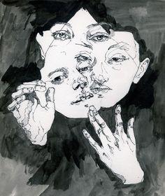 illustration by Alice Bloomfield // music accompaniment by J Dilla Art Inspo, Art Sketches, Art Drawings, Arte Obscura, Ouvrages D'art, Arte Sketchbook, Art Et Illustration, A Level Art, Ap Art