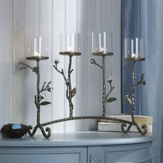 Mikasa 4-Light Gilded Twigs Centerpiece Sconce
