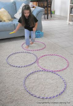 Hula Hoop Fun! Good for gross motor skill development. Repinned by SOS Inc. Resources.  Follow all our boards at http://pinterest.com/sostherapy  for therapy resources.