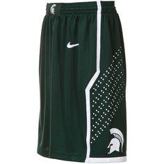Michigan State Spartans Green Replica Basketball Shorts