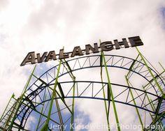 Roller Coaster Photo Ocean City Vintage Art by JKiesewetterPhotos - #RollerCoaster - $20.00