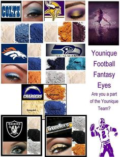 Are you ready for some football get your game face on with these amazing colors!! Contact me for details!! Or visit my page www.facebook.com/youniquebyaurelia  #Football #CollegeFootball #NFLFootball #Broncos #Alabama #LSU #GeorgiaBullDogs #Gators #Patriots
