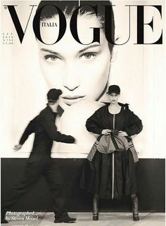 "neid-invidia: "" Bella Hadid photographed by Steven Meisel for Vogue Italia September 2016 "" Vogue Magazine Covers, Fashion Magazine Cover, Fashion Cover, Vogue Covers, Fashion Art, Trendy Fashion, 1960s Fashion, High Fashion, Vogue Editorial"