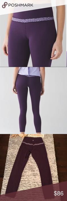 "❤️❤️FLASH SALE❤️ ❤️Lululemon Align Pant Legging ▪️Lululemon Align Pant  ▪️Color: Deep Zinfandel / Miss Mosaic Lilac Deep Zinfandel ▪️Size: 4 ▪️Inseam: 25"" ▪️Fabric: Nulu ▪️Excellent Used Condition ▪️No pilling/Stains  ▪️Smoke Free House  Please let me know if you have any additional questions! ❤️ As always, reasonable offers are welcome! lululemon athletica Pants Leggings"