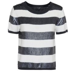 With a boxy fit and an all-over sequined striped pattern, the Bold Stripe Sequin Detail Jumper is a must-have item for this season. This chic short sleeve jumper by coveted designer Armani Jeans in NAVY features a Armani Women, Must Have Items, Bold Stripes, Armani Jeans, Embellishments, Jumper, Sequins, Mens Fashion, Skinny