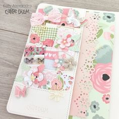 Carpe Diem Planner by design team member Kelly Alexandra featuring the Romance Collection