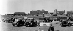 U.C.L.A. in 1932. The photo was taken in a parking lot by C.C. Pierce, facing west. (Huntington Library)