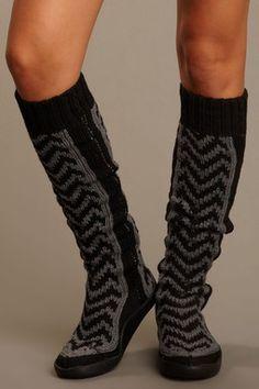 """Tire Tread 26"""" Knit Boot"""