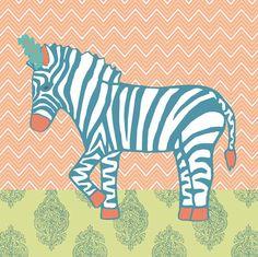 Oopsy Daisy Canvas Wall Art Circus Zebra by Annette Tatum, available at #polkadotpeacock. #peacocklove #oopsydaisyart