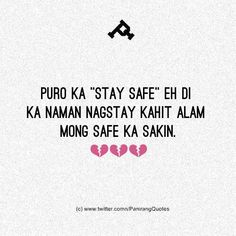 Tagalog Quotes, Qoutes, Filipino Memes, Funny Twitter Posts, Funny Postcards, Hugot, Reality Quotes, Pick Up Lines, Crush Quotes