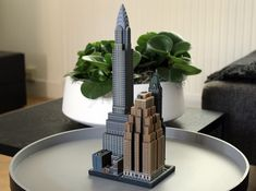 The amazing Chrysler building as a miniature scale model by Ittyblox, available on Shapeways. Architecture Symbols, Set Cookie, Chrysler Building, Beautiful Buildings, 3d Printer, Miniatures, Prints, Scale Model, Lego
