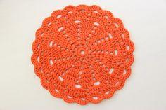 Virkattu matto oranssi 67cm
