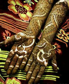 beautiful bridal indian mehendi ...