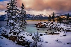 """""""The Cove By Jove""""... Lake Tahoe NV What can I say? I purposely chose to stay home for awhile dig in and REALLY photograph the astounding area I live in. What better year to do it than the first real winter we've had in 4 years? It's been a revelation... [contended sigh] #fujifilm #reallyrightstuff #lucroit #formatthitech #winter #awesomesauce"""