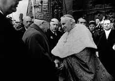 Emmanuel Cardinal Suhard, the Archbishop of Paris, with Marshal Petain.