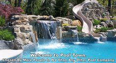 Waterfall Ideas for Pools | ... Pools | Inground Swimming Pools NJ | Pool Companies in NJ - Pool Town