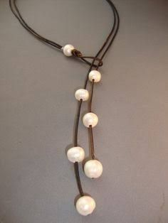 pearl and cord necklaces - Google Search