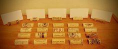 100 UNUSED Natural Wine Cork Place Card Holders-Wedding Decor