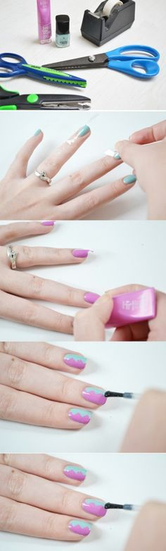 Easy Two-Toned Nails - 40 DIY Beauty Hacks That Are Borderline Genius