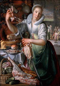 A Kitchenmaid, by Joachim Anthonisz Wtewael - Joachim Wtewael - Wikipedia, the…