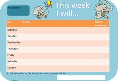 Behavior chart check or minus 2 per block  they chose per day what to work on and reward