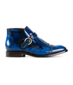 MARC BY MARC JACOBS Blue leather brogues
