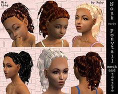 ponytail styles hair 1000 images about sims 2 downloads hair on 7987