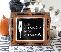 """It's MimOsa not MimosA Harry Pottery 8x10 by BrideMadeCalifornia. Throwing the ultimate Harry Potter brunch or halloween party? We've got you covered with your """"its mimosa not mimosa"""" bar sign!  This listing is for 4 high quality pdf digital files (5"""" x 7"""" and 8"""" x 10"""") to be downloaded and printed at your local print shop or at home."""