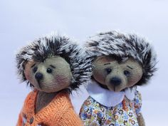Hedgehogs Hedgehog friends Teddy toy Teddy's friend Handmade Handmade  Toy in clothes FavoriteTeddy  toy Gift toy Teddy Hedgehogs Teddy