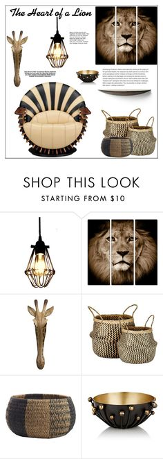 """""""The Heart of a Lion"""" by pat912 ❤ liked on Polyvore featuring interior, interiors, interior design, home, home decor, interior decorating, Murmur, CB2, Arteriors and Home"""