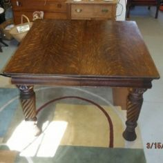 Quarter Sawn Oak Dining Table With Two Leaves And Center Leg $275 Reference  For My Uncleu0027s Table I Have (ones Iu0027ve Seen In Antique Shops Were Listed At  ...