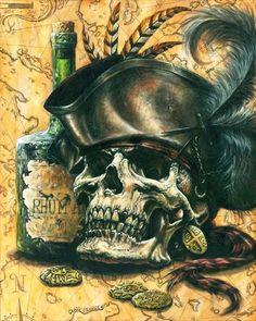Pirate Skull (better image) by Spencer-art on DeviantArt Skull Pirate, Pirate Skull Tattoos, Pirate Ship Tattoos, Pirate Art, Pirate Life, Pirate Theme, Pirate Ships, Pirate Rum Tattoo, Pirate Tattoo Sleeve