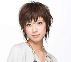 An example of a short pixie haircut the Japanese style.