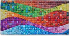 Polymer clay mosaic. Wow - how gorgeous. Wonder if I could re-create this as a collage or a quilt?