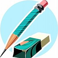 Illustration Of An Eraser With A Cover And A Sharpened Pencil On Top