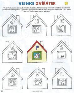 Vesnice zvířátek - začáteční písmena
