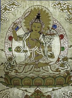 Manjushri – Thangka Painting   More info here http://buddhistartsandcrafts.com/manjushri-thangka-painting-item-tp1044/  Note: The color seemed to have changed when uploaded to Pinterest site. Check our website for the original picture.