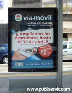 Rotulación para muppies Vía - Móvil. ¿te interesa? Contacta con nosotros. #rotulacion #vehiculo #tranvia #publiservic #mupis Canary Islands, Advertising