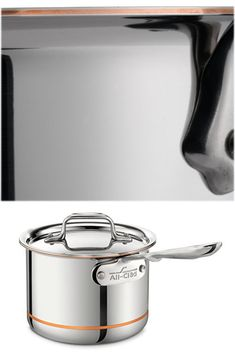All-Clad 6202 SS Copper Core Bonded Dishwasher Safe Saucepan / Cookware, Silver Saucepans, Cookware, Kettle, Dishwasher, Bond, Ss, Copper, Kitchen Appliances, Silver