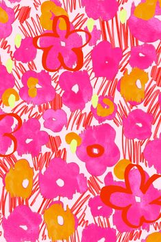 Matthew Williamson spring/summer 2014 Graffiti Daisy print in Pink